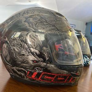 icon thriller helmet - rare find - motorcycle